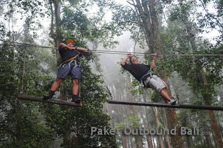 outbound bali treetop, outbound treetop di bali