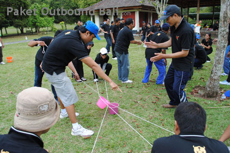 team building outbound bali game